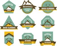 Tourism badges Stock Photo