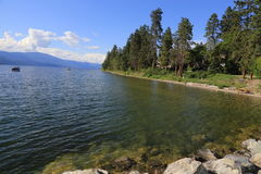 Tourism BC lakefront resorts Royalty Free Stock Photos