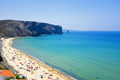 Tourism at the beach from Arifana in Portugal Stock Photography