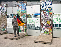 Tourism in Berlin - A piece of Historic Berlin wall at Potsdamer Stock Photography