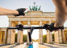 Tourism in bicycle at Berlin Royalty Free Stock Images