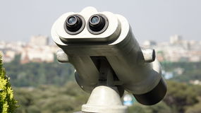 Tourism Binoculars Or Observation Device Royalty Free Stock Images