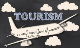 Tourism on Blackboard Royalty Free Stock Images