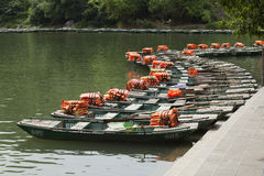 Tourism boats waiting for passenger Stock Image