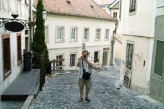 Tourism in Bratislava. Royalty Free Stock Image