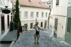 Tourism in Bratislava. Royalty Free Stock Image