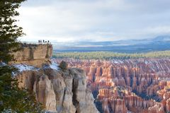 Tourism at Bryce Canyon Royalty Free Stock Images