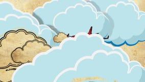 Tourism cartoon decorative footage stock video footage