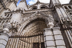 Tourism.Cathedral de Toledo, ciudad imperial Fotografía de archivo