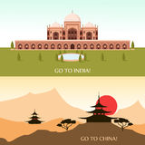 Tourism for China and India Stock Image