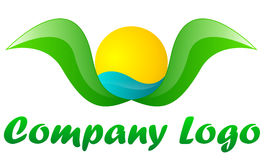 Tourism company green logo royalty free illustration