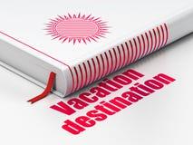 Tourism concept: book Sun, Vacation Destination on white background Stock Image