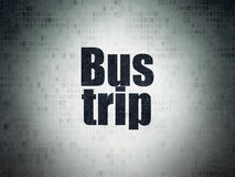 Tourism concept: Bus Trip on Digital Data Paper background Royalty Free Stock Photos