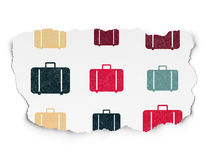 Tourism concept: multicolor Bag icons on Torn Stock Images