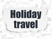 Tourism concept: Holiday Travel on Torn Paper background Royalty Free Stock Image
