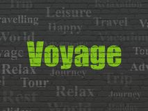 Tourism concept: Voyage on wall background Stock Image