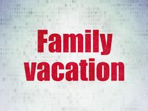 Tourism concept: Family Vacation on Digital Data Paper background. Tourism concept: Painted red word Family Vacation on Digital Data Paper background Royalty Free Stock Photos