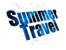 Tourism concept: Summer Travel on Digital background Stock Photos