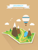 Tourism concept polygonal vector map Royalty Free Stock Photo