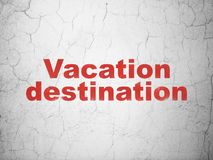 Tourism concept: Vacation Destination on wall background Royalty Free Stock Image