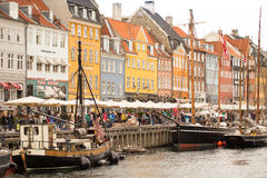 Tourism in Copenhagen Royalty Free Stock Images