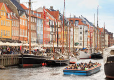 Tourism in Copenhagen Royalty Free Stock Photography