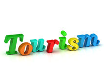 Tourism 3d word colour bright letter Royalty Free Stock Image