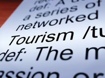 Tourism Definition Closeup Showing Traveling Royalty Free Stock Photo