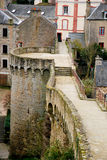 Tourism in Dinan. Tourism medieval in Dinan, France Royalty Free Stock Photo