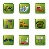 Tourism equipment icon Royalty Free Stock Photography