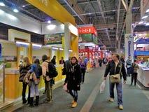 Tourism Fair in Brno. Tourism expo called Go and Regiontour 2015 in BVV Brno stock photo