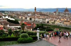 Tourism in Florence city, Italy Royalty Free Stock Images