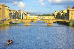 Tourists visiting Florence city  , Italy Stock Images