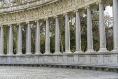 tourism Fountains and gardens of the royal jardin del retiro in Royalty Free Stock Photo