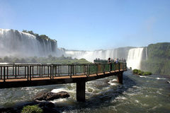 Tourism in iguassu falls, brazil Royalty Free Stock Images