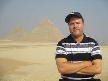 Tourism at Giza pyramids Egypt Royalty Free Stock Photos