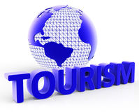 Tourism Global Shows Voyages Visiting And Planet Royalty Free Stock Photography
