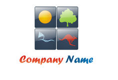Tourism glossy logo. Glossy logo for a travel or tourism agency Stock Images