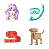 Tourism, hairdresser, rest and other web icon in cartoon style.dog, animal, home icons in set collection. Tourism, hairdresser, rest and other  icon in cartoon Royalty Free Stock Photo