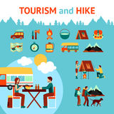 Tourism And Hike Infographics Royalty Free Stock Image