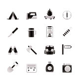 Tourism and hiking icons Royalty Free Stock Photos