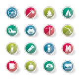 Tourism and Holiday icons over colored background. Vector Icon Set Royalty Free Stock Photo