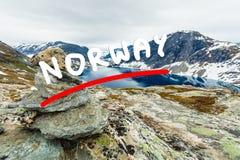 Djupvatnet lake, Norway Stock Photography