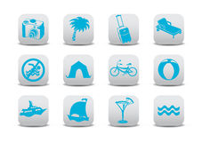 Tourism icons Stock Image
