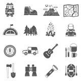 Tourism Icons Black Royalty Free Stock Image