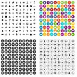 100 tourism icons set vector variant. 100 tourism icons set vector in 4 variant for any web design isolated on white Stock Image