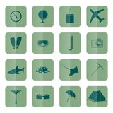 Tourism icons, vector. Royalty Free Stock Photography