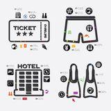 Tourism infographic Stock Photography
