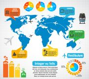Tourism infographic elements set Royalty Free Stock Photo