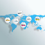 Tourism infographic elements set with world map travel destinations vector illustration Stock Photo